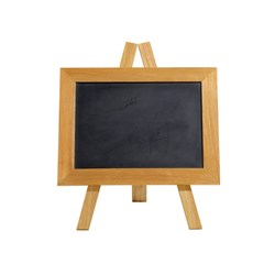 Alex Liddy Acacia Mini Grazing Blackboard & Chalk Set 33 x 25 x 1.5cm