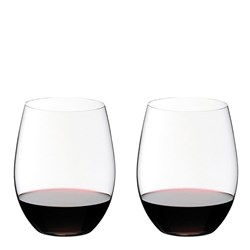 Riedel O 2 Piece Crystal Cabernet/Merlot Stemless Wine Glass Set 600ml