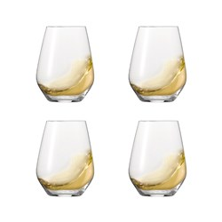 Spiegelau Authentis 4 Piece Crystal Stemless White Wine Glass Set 420ml