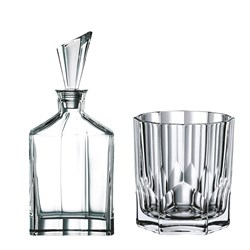 Nachtmann Noblesse 3 Piece Crystal Whisky Carafe & Tumbler Set 750ml/295ml