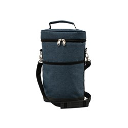 Karlstert Deluxe 2 Bottle Insulated Wine Bag Navy Blue