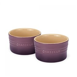 Chasseur La Cuisson Ramekin 10cm x 6cm Set of 2 Plum