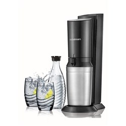 SodaStream Crystal Sparkling Water Maker Black & Metal