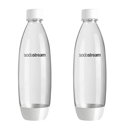 SodaStream 1L Fuse Twin Pack White Carbonating Bottles