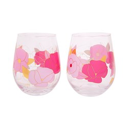 Sunnylife Set of 2 Stemless Cocktail Glasses 650ml Wild Posy