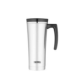Thermos 470ml Sipp Stainless Steel Vacuum Insulated Travel Mug Black Trim