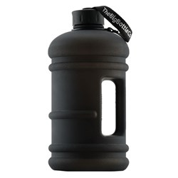 The Big Bottle Co Plastic Water Bottle 2.2L Jet Black