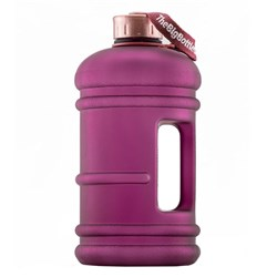 The Big Bottle Co Plastic Water Bottle 2.2L Plum Rose