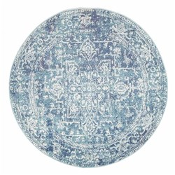 Rug Culture Muse Blue Transitional Rug 150 x 150cm