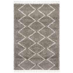 Rug Culture Saffron Plush Tassel Rug Grey 230x160
