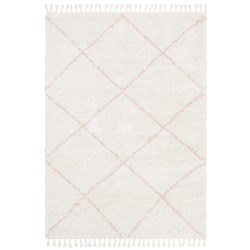 Rug Culture Saffron Plush Diamond Rug Pink 230x160