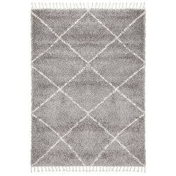 Rug Culture Saffron Plush Diamond Rug Silver 170x120