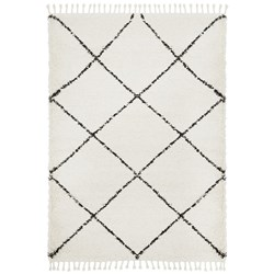 Rug Culture Saffron Plush Diamond Rug White 170x120