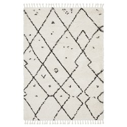 Rug Culture Saffron Plush Abstract Rug White 230x160