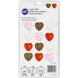 Wilton Hearts 15-Cavity Chocolate Mould Set