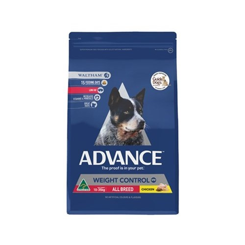 Advance Weight Control All Breed Dog Food 13kg Chicken