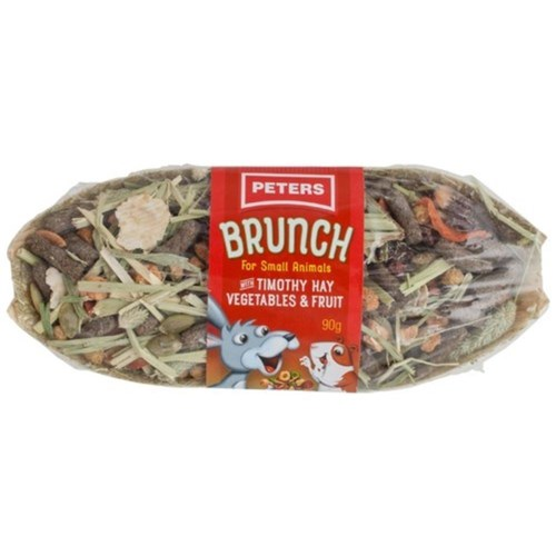 Peters Brunch with Timothy Hay Vegetables  Fruit Treat 90g