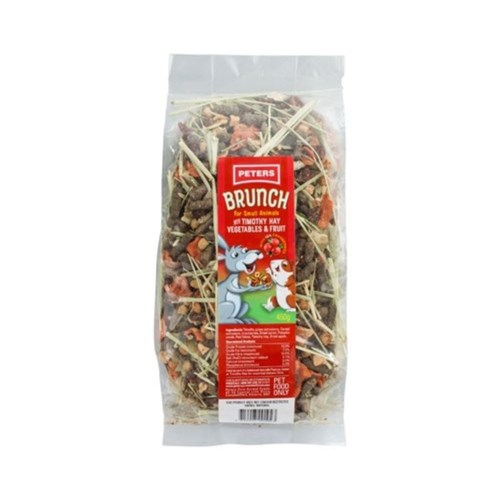 Peters Brunch with Timothy Hay Vegetables  Fruit Treat 450g