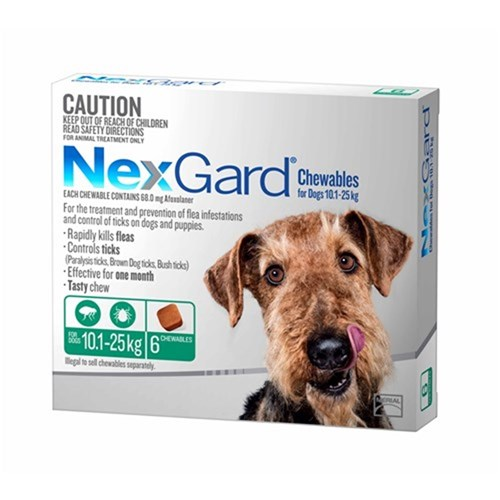Nexgard for Large Dogs 10.1-25kg Pack of 6