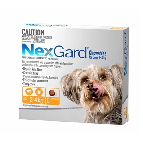 Nexgard for Small Dogs 2-4kg Pack of 6