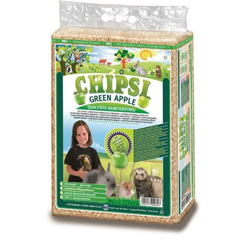 Chipsi Plus Green Apple Pet Litter 3.2kg