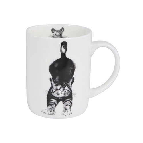Ashdene Casual Cats Collection Stretching Cat Mug
