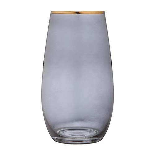 Ladelle Chloe Glass Highball Tumbler 650ml Navy Blue  Gold