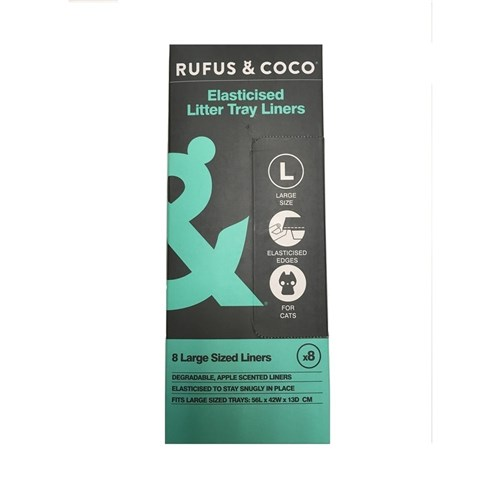 Rufus  Coco Elasticised Litter Tray Liners Large 8 Pack