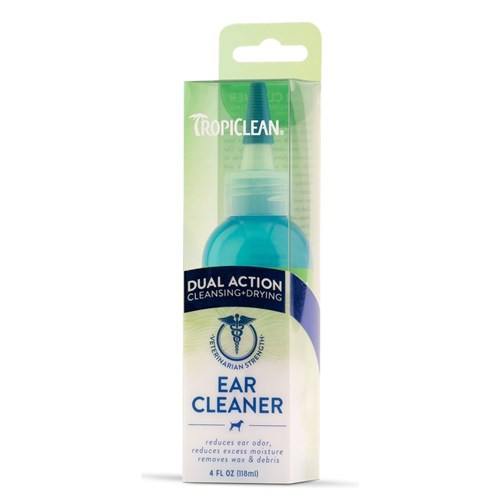Tropiclean Dual Action Dog Ear Cleaner 118ml