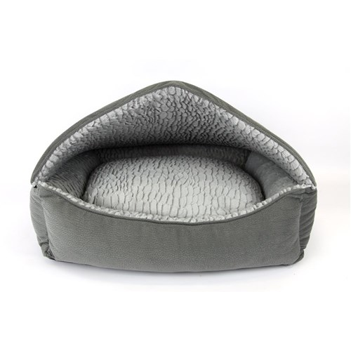 T  S Canopy Plush Grey Pet Bed