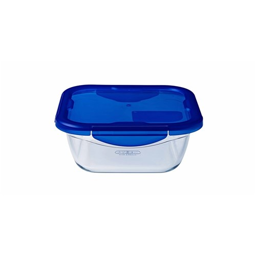 Pyrex Cook n Go 0.8L Square Roaster with Lid