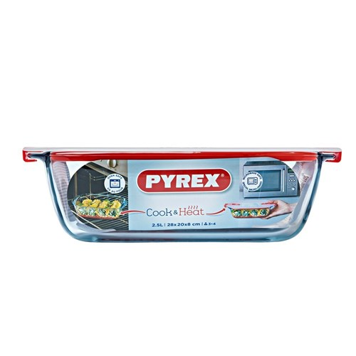 Pyrex Cook  Heat Rectangle Dish with Lid 2.5L
