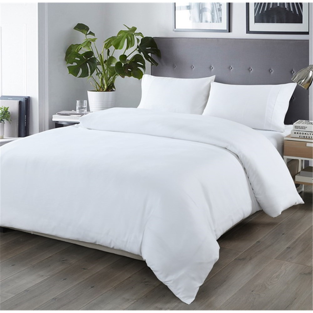 Royal Comfort Bamboo Blend Quilt Cover Set Double White