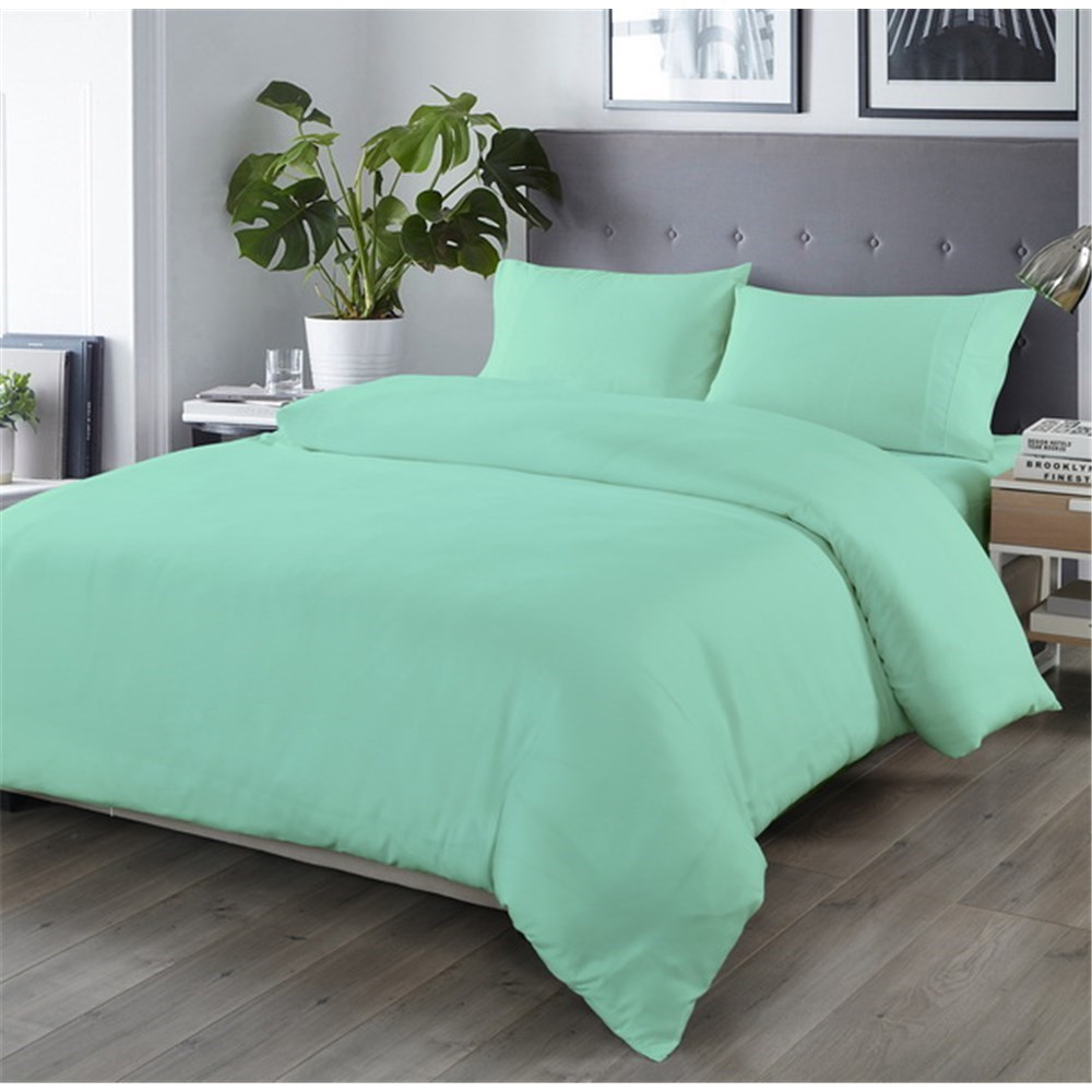 Royal Comfort Bamboo Blend Quilt Cover Set Queen Green Mist