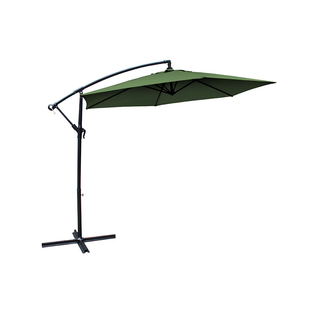 Milano Outdoor Hanging & Folding Umbrella 3m Emerald Green