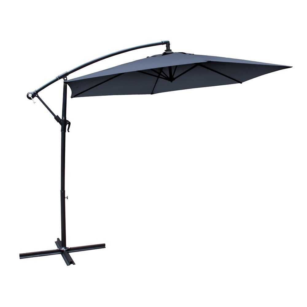 Milano Outdoor Hanging and Folding Umbrella 3m Charcoal