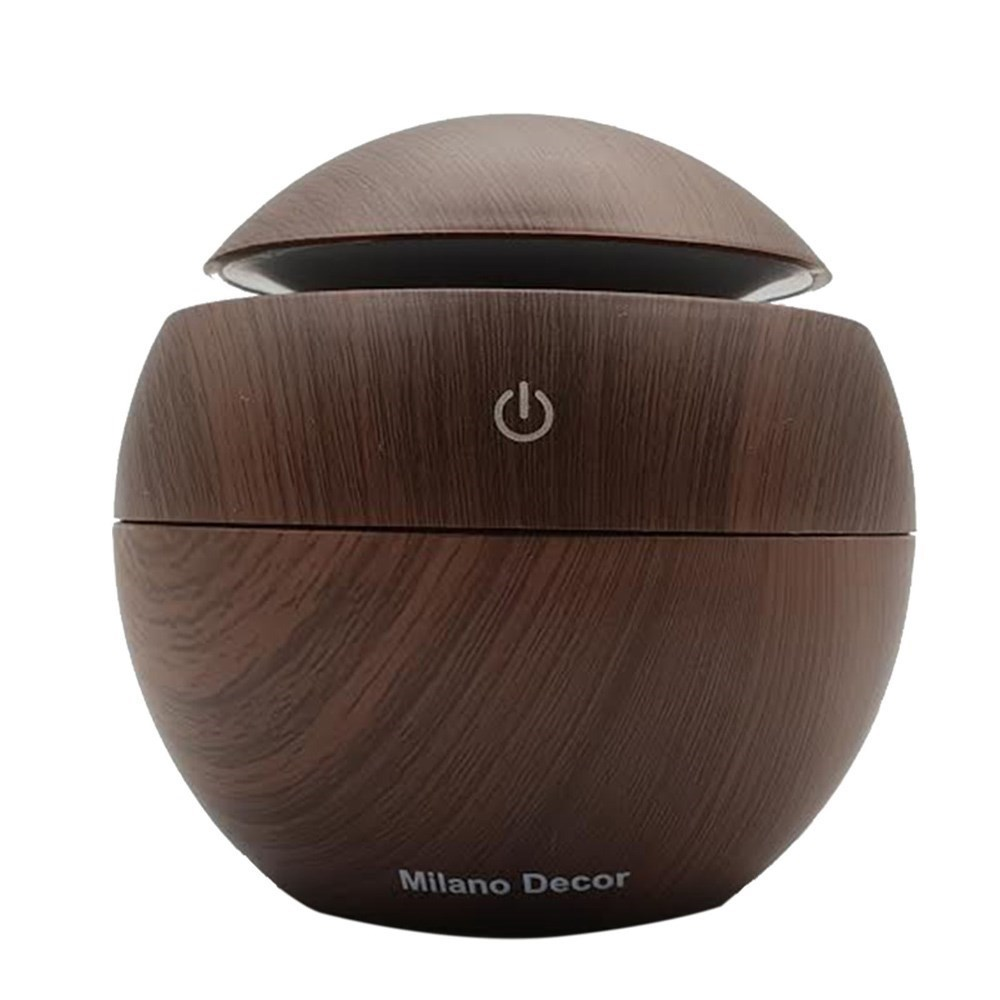Milano Decor USB Aromatherapy Diffuser with 10 Pack of Aroma Oils Dark Wood Grain