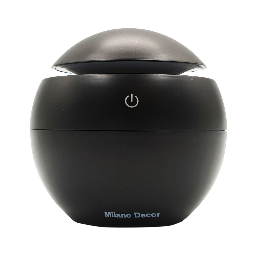 Milano Decor USB Aromatherapy Diffuser with 10 Pack of Aroma Oils Black