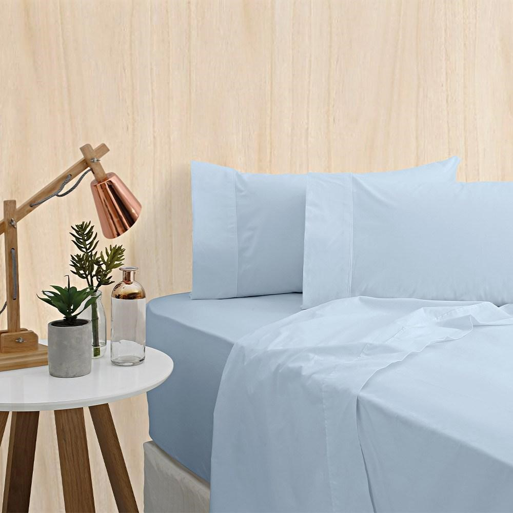Bas Phillips Mega King Bamboo Cotton Sheet Set Blue