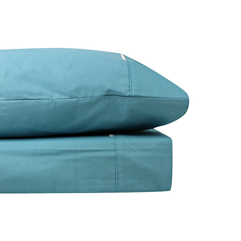 Bas Phillips Breathe Cotton Sheet Set Double Baltic Blue