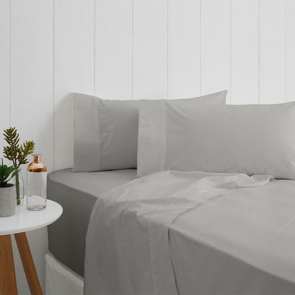 Odyssey Living Breathe Cotton King Sheet Set - Pewter
