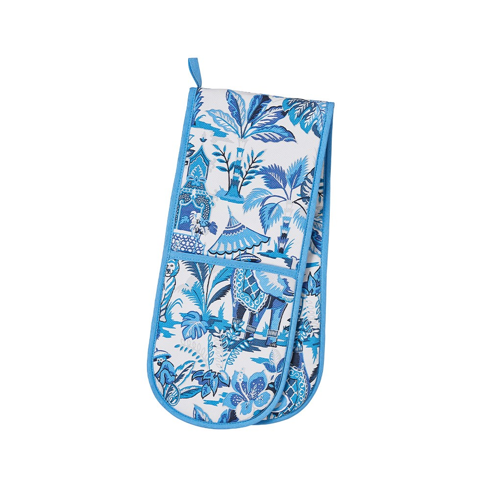 Ulster Weavers India Blue Double Oven Glove