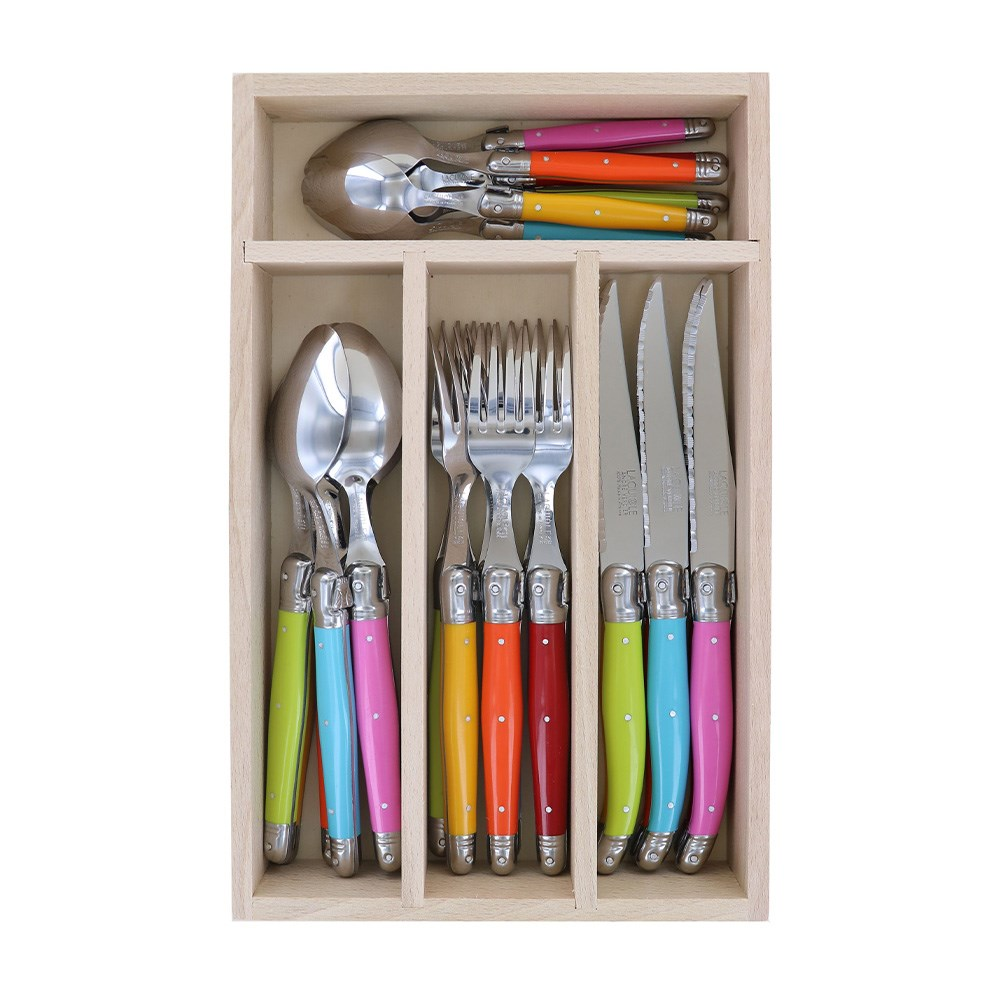 Laguiole by Andre Verdier Debutant 24 Piece Cutlery Set Multicolour