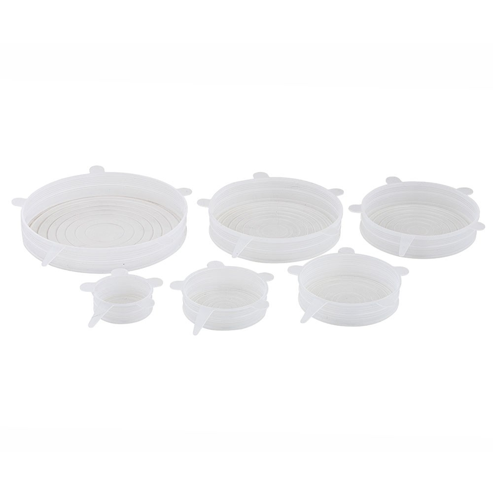 Davis & Waddell EcoFlexi Silicone 6 Piece Lids Pack