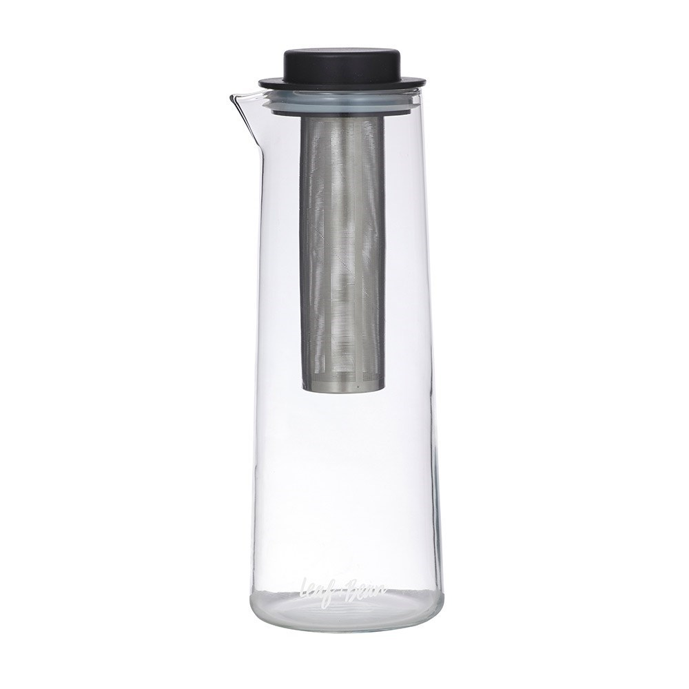 Leaf & Bean Glass & Stainless Steel Cold Brew/Ice Tea Flask with Infuser