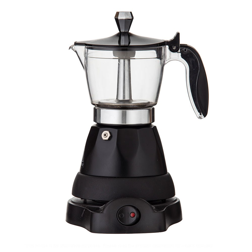 Leaf & Bean Electric 3 Cup Espresso Maker Black