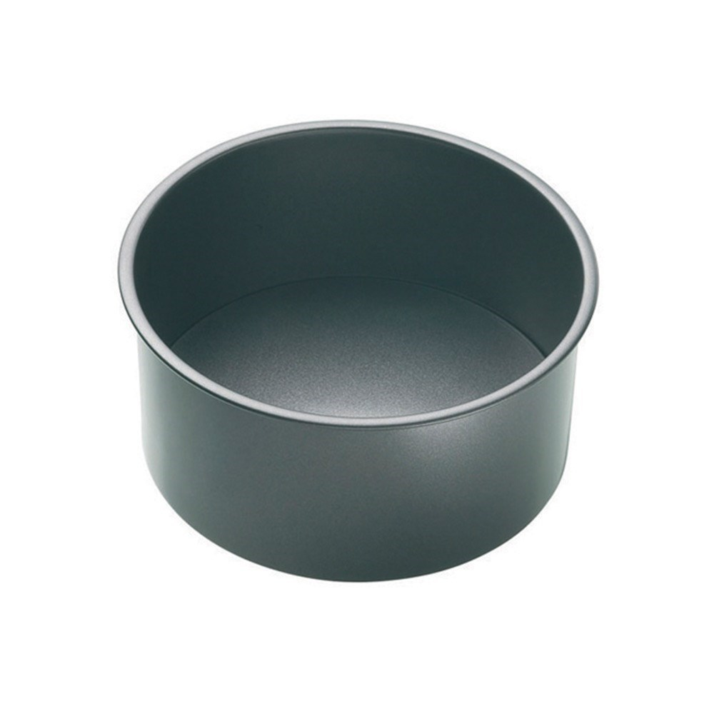 MasterPro Non-Stick Steel Loose Base Round Deep Cake Pan 18 x 8cm Black