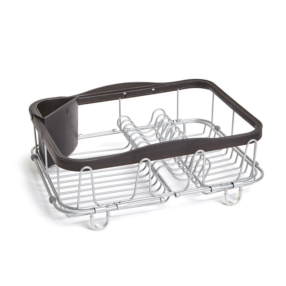 Umbra Sinkin Expandable Dish Rack Black & Silver