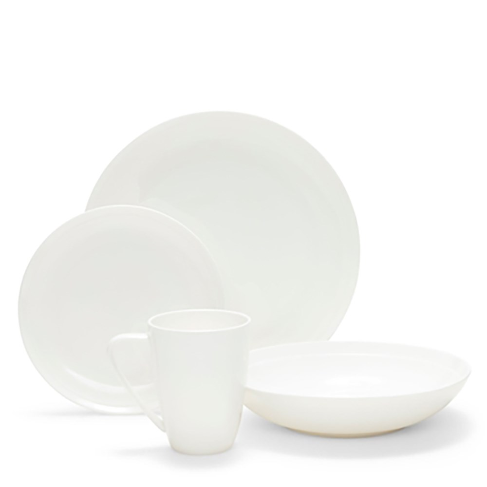 Salt & Pepper Edge 16 Piece Dinner Set