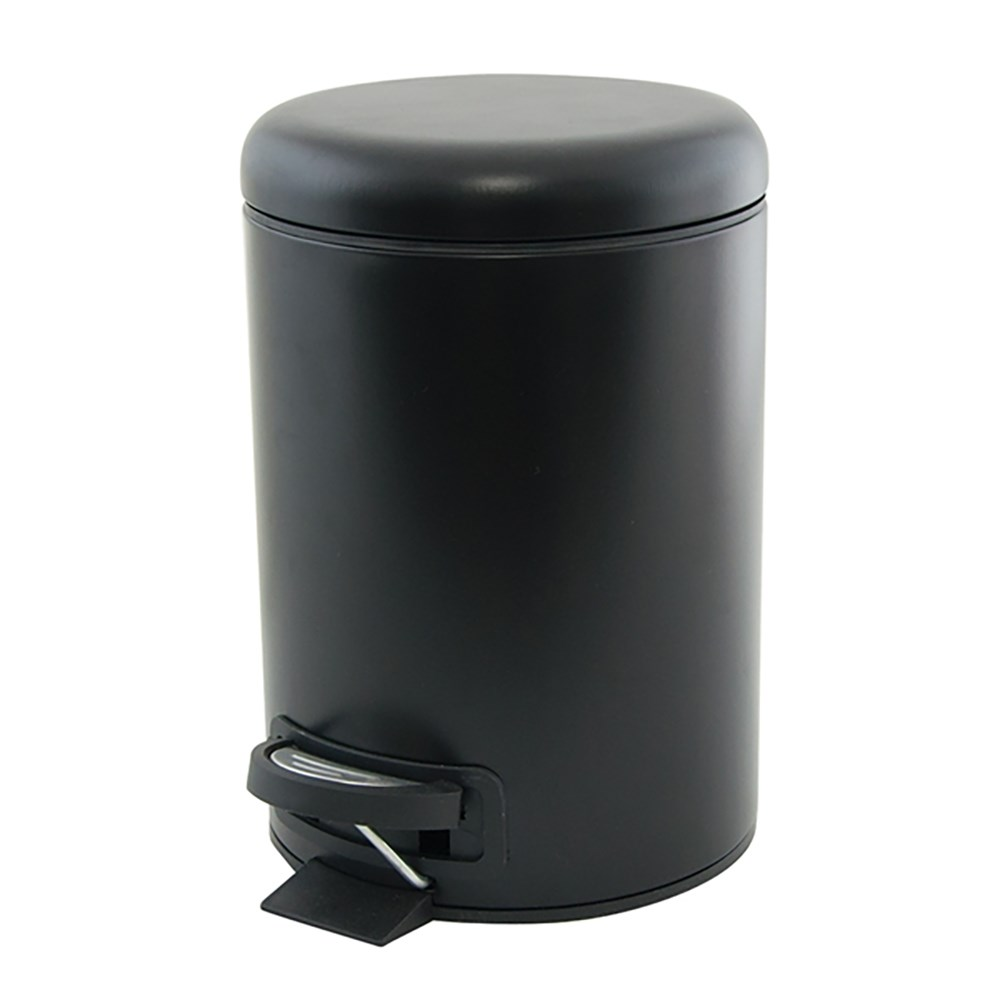 Salt & Pepper Suds Pedal Bin 3L Black